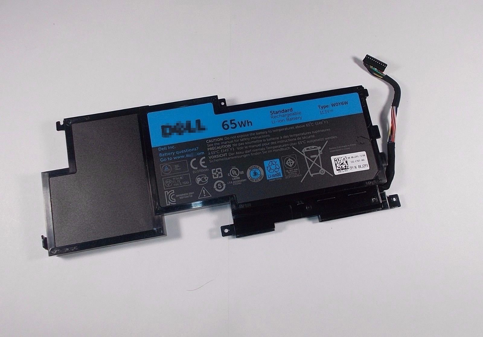 Replacement Dell WOY6W Battery